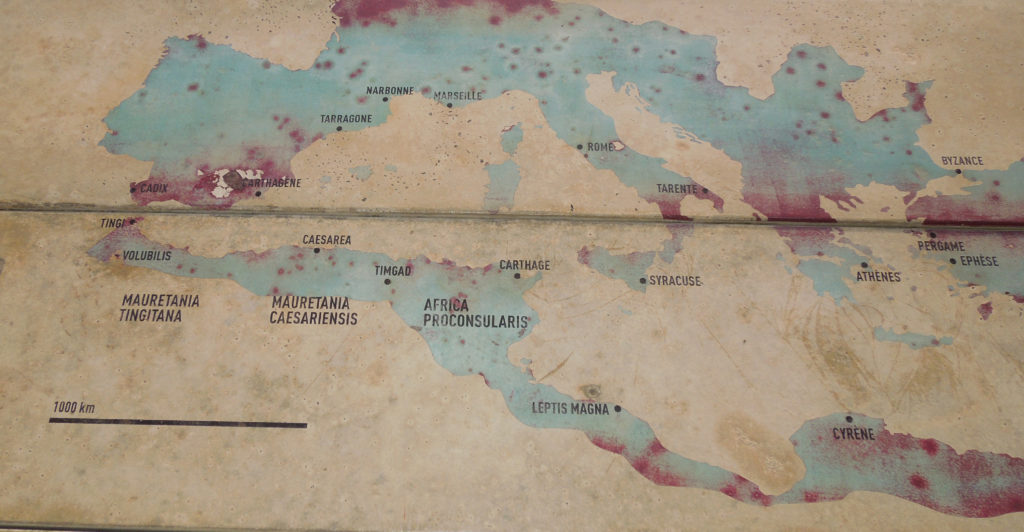 Harta Volubilis Maroc